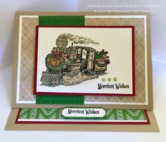 Easy Easel card 2#5- New Christmas Magic Stamp Set Stampin'Up by Mahes