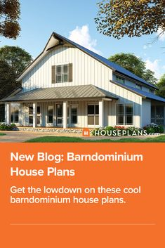 Love the look of a farmhouse barndominium? Then you'll love this blog! Click the image to learn all about barndominium ideas. Questions? Call 1-800-913-2350 today. #blog #architecture #modern #bungalow #architect #architecture #buildingdesign #country #craftsman #houseplan #homeplan #house #home #homeblog Metal House Plans, Barn House Plans, House Floor Plans, Metal Building Homes, Building Design, Building A House, Barndominium Floor Plans, Gambrel Roof, Pole Barn Homes