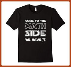 Mens Come To The Math Side We Have Pi Funny Joke Algebra Teachers Large Black - Math science and geek shirts (*Partner-Link)