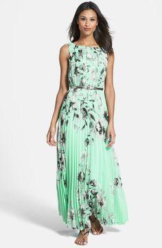 Nordstrom  Eliza J Print Chiffon Maxi Dress
