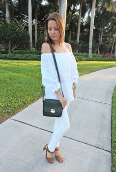 White on white summer outfit | absolutelyannie.com