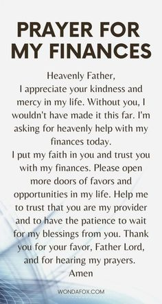 Money Prayer, Say A Prayer, Power Of Prayer, Daily Prayer, Prayer For Finances, Financial Prayers, Prayer For My Family, Patama Quotes, Problem Quotes