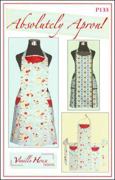 Christmas Apron Pattern/Vanilla House by ChristmasJul on Etsy, $8.00