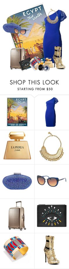 """""""Dreaming of Egypt"""" by chanelkrazy ❤ liked on Polyvore featuring Emilio Pucci, La Perla, Carvela, Michael Kors, Hartmann, Kenzo, Tory Burch, Liliana and Bobbi Brown Cosmetics"""
