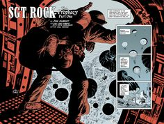 Joe kubert´s Sgt Rock about to jump to the European TOW. God bless the master. R.I.P.