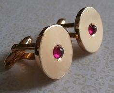 Gatsby Art Deco Cufflinks ~ Retro Style Vintage Handsome Style ~ by StarliteVintageGems ~ SOLD