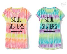 Soul cool! Graphic tees she'll love to wear side by side with her bestie.