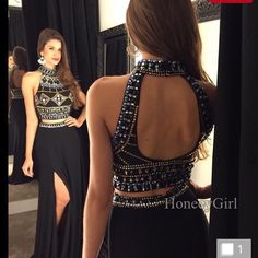 2 piece prom dress Never worn, great quality but didn't fit me. Ordered on line, nothing wrong with it, fits 4-6 Dresses Prom