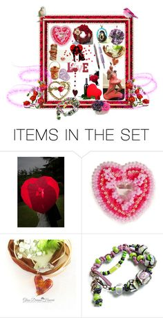 """L*O*V*E"" by sylvia-cameojewels ❤ liked on Polyvore featuring art and vintage"