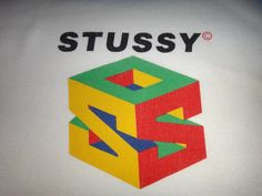 Vintage STUSSY Box Logo Double S by Smokevintageclothing on Etsy