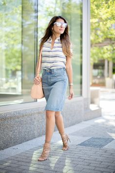 How to style a denim skirt | The Girl from Panama