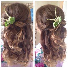 Half up half down wedding hair bridesmaid