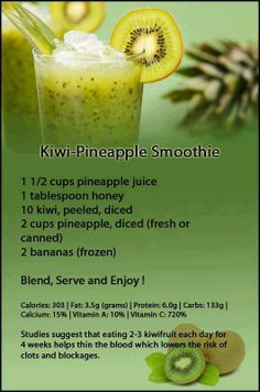 Kiwi Pineapple Smoothie