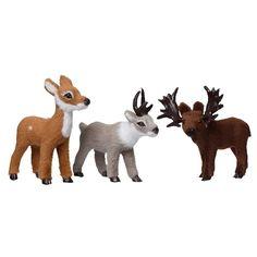 Koriste-eläin 7 cm Hirvi/poro/peura Keinotekoinen materiaali - Joulukoristeet - Rusta.com Moose Art, Fox, Animals, Animales, Animaux, Animal, Animais, Foxes
