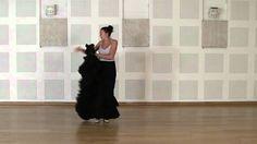 Técnica avanzada de bata de cola flamenca: Cogida #2
