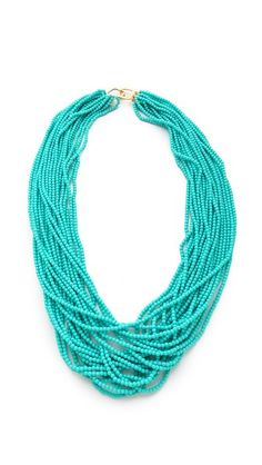 Kenneth Jay Lane Turquoise Necklace  Nice clasp.