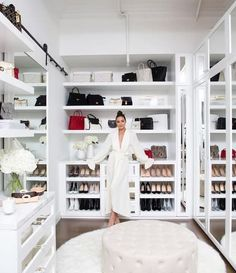 53 Elegant Closet Design Ideas For Your Home. Unique closet design ideas will definitely help you utilize your closet space appropriately. An ideal closet design is probably the only avenue towards go. Walk In Closet Design, Bedroom Closet Design, Master Bedroom Closet, Closet Designs, Spare Room Closet, Closet Rooms, Closet Small, Simple Closet, Wardrobe Design