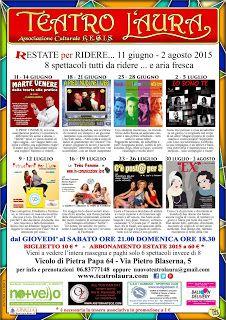 TG Musical e Teatro in Italia: R-ESTARE PER RIDERE al Teatro L'Aura dal 11 giugno...