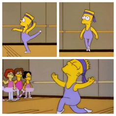 Bart Simpson in #ballet! #dance