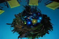 Image result for diy peacock feathers wreath centerpiece