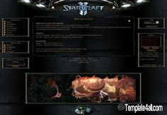 Grunge Dark Starcraft Game E107 Theme #e107 #starcraft