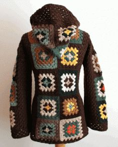 Scrap Granny Hooded Jacket Pattern Crochet Pattern Scrap Granny Hooded Jacket [PA877] - $7.99 : Maggie Weldon, Free Crochet Patterns this is awful...