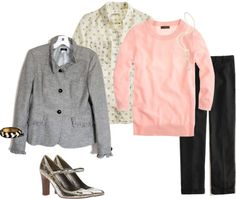 """""""Pink and Gray"""" by elle1875 ❤ liked on Polyvore"""