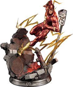 """The Flash DC Comics Statue   """"A vida é locomoção ... se você não está se movendo você não está vivendo.Mas chega um momento em que você tem que parar de fugir das coisas ... e você deve começar a correr em direção a algo você deve continuar.Continue andando.Mesmo que seu caminho não esteja iluminado ... confie em encontrar seu caminho """"  Desenvolvido e fabricado em parceria com o Prime 1 Studio estamos orgulhosos de apresentar o Flash daJustice League New 52.  Bartholomew Henry Allen também…"""