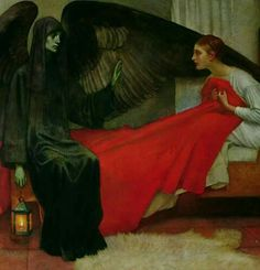 The Young Girl and Death - Marianne Stokes, 1900.