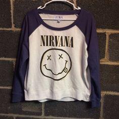 Nirvana Womens Medium Sweatshirt Gently worn Nirvana Womens Medium Sweatshirt. No stains or flaws. Cotton On Tops Sweatshirts & Hoodies