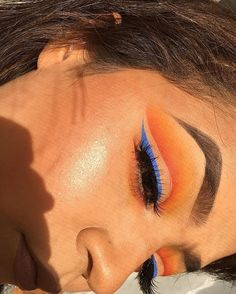 """WEBSTA @ lolakins_ - Inspired by butterflies I've started on another thread Products used:@anastasiabeverlyhills glowkit in sundipped, dipbrow pomade in """"dark brown""""@bhcosmetics blue eyeliner and Take me to Brazil palette"""