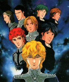Ginga Eiyuu Densetsu/Legend of the Galactic Heroes by Matsuri Okuda. (Matsuri Okuda Illustrations - Epitaph, 1990) https://ru-logh.livejournal.com