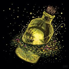 Memory Elixir, limited edition of 25, hand signed and numbered. James R. Eads