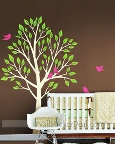 Garden Tree With Birds Wall Sticker