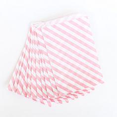 Pink Diagonal Bag - Large - Set of 12