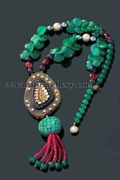 Beads Sets by Swati Saini - Jewellery Designs Indian Jewellery Design, Bead Jewellery, Indian Jewelry, Beaded Jewelry, Jewelry Design, Beaded Bracelets, Royal Jewelry, Gold Jewelry, Jewelery