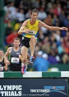Daniel Huling was the top qualifier in the steeplechase in 8:29.00 in the 2012 U.S. Olympic Team Trials at Hayward Field.