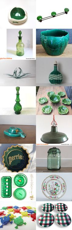 Green finds from Vintage France Team by Laura on Etsy #etsy #etsyfr…