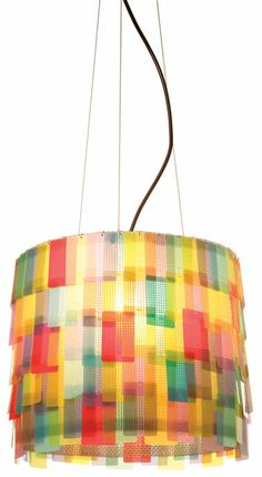 Bluel pendant with laminated-paper shade by Anthologie Quartett