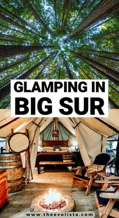 Adventure Bucket List, Adventure Travel, California Travel, Glamping California, Big Sur California, Travel Oklahoma, Carmel By The Sea, Luxury Camping, To Infinity And Beyond