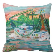 Rest your head on one of Zazzle's Boat decorative & custom throw pillows. Shrimp Boat, Decorative Throw Pillows, Tapestry, Island, Boats, Home Decor, Hanging Tapestry, Accent Pillows, Tapestries