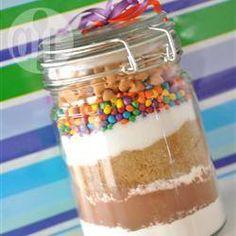 Brownie-Mischung im Glas
