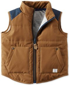 Carter's Baby Baby Boy Months) Clothes at Macy's are available in baby, toddler and kids' sizes. Browse Carter's Baby Boy Months) Baby Clothes at Macy's and find cute baby clothes for your little one today! Baby Boy Vest, Toddler Vest, Baby Boy Tops, Carters Baby Boys, Baby Kids, Camo Baby, Kids Vest, Cowboy Baby, Baby Bling