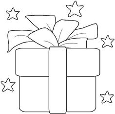 Christmas present pattern. Use the printable outline for crafts ...