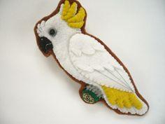 Sulphur Crested Cockatoo Pin, via Etsy.