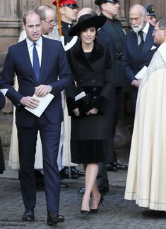 Prince William, Duke of Cambridge and Catherine, Duchess of Cambridge attend the memorial service of The Duke of Westminster at Chester Cathedral on November 28, 2016 in Chester, England.