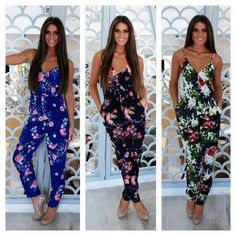 95877ed0c2e Our fabulous floral jumpsuits only €59 ladies Shop online at www.cariscloset.ie  Or call 0035318456477   0035318457593 to order now Follow us on twitter ...