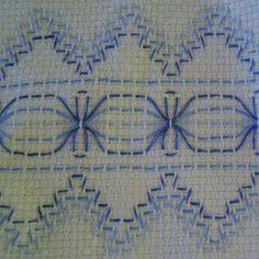Very different and interesting design for huck weaving. Swedish Embroidery, Types Of Embroidery, Embroidery Patterns, Hand Embroidery, Small Gifts For Friends, Huck Towels, Swedish Weaving Patterns, Monks Cloth, Weaving Designs