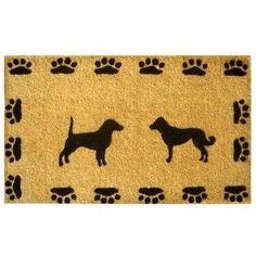 Dog Doormat - Coir Mat - Paw Prints