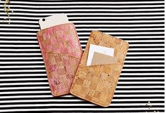 BurdaStyle shares a free pattern for making a simple phone case. It has a large pocket to hold your p hone, and a smaller pocket to hold business cards or ID. They use a rather unusual material …